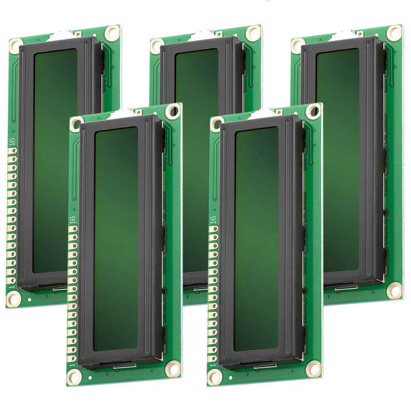 HD44780 1602 LCD Module Display 2x16 Characters for Arduino (with Green Background) Display AZ-Delivery 5x Display