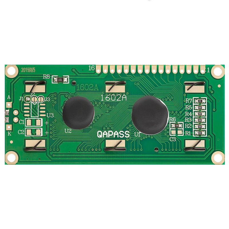 HD44780 1602 LCD Module Display 2x16 Characters for Arduino (with Green Background) Display AZ-Delivery