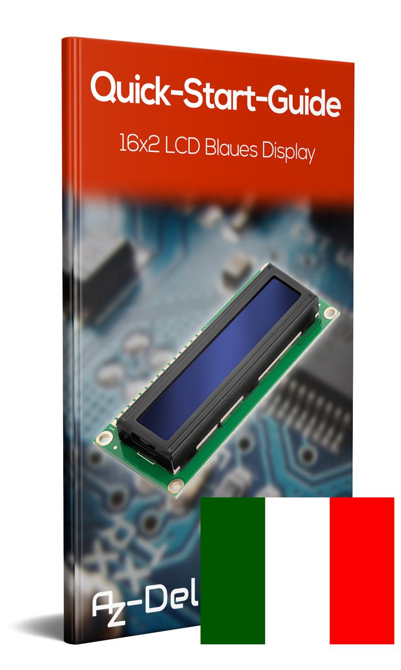 16x2 LCD blue display