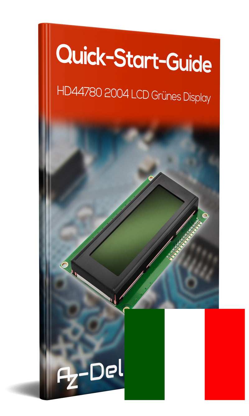 HD44780 2004 LCD Display 4x20 Characters Green