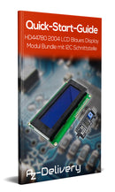 HD44780 2004 display LCD Bundling up 4x20 sign with I2C interface blue