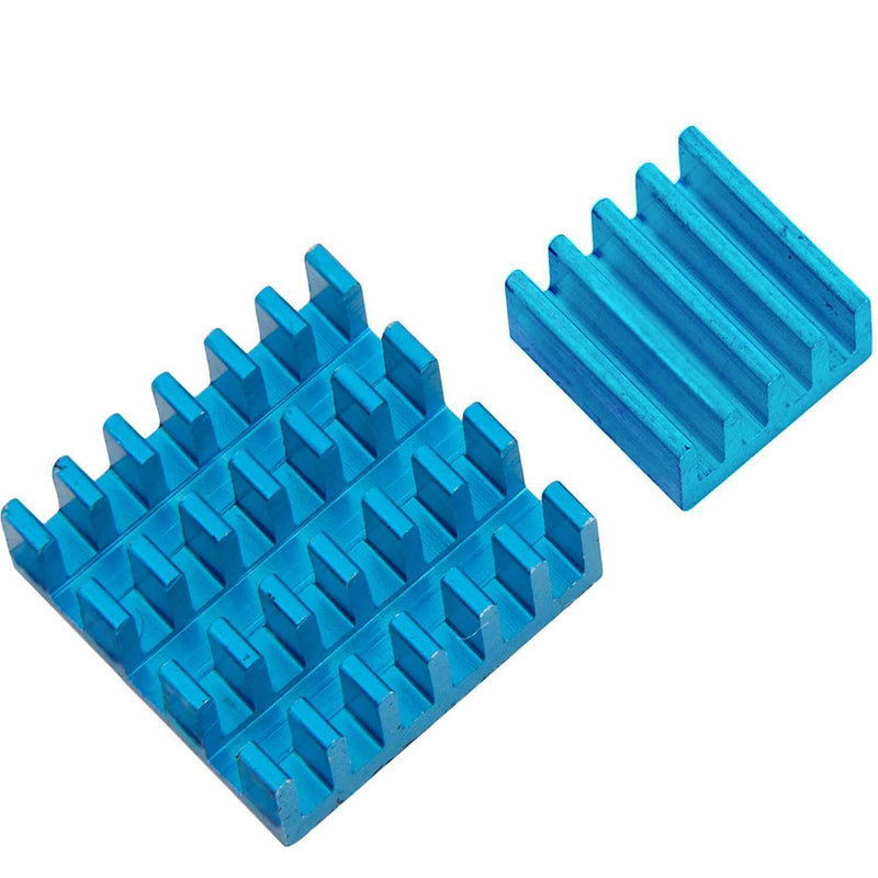 Set of 2 blue aluminum heatsinks passively for Raspberry Pi 3 with heat-conductive special adhesive film RaspberryPi Accessories AZ-Delivery 1x set