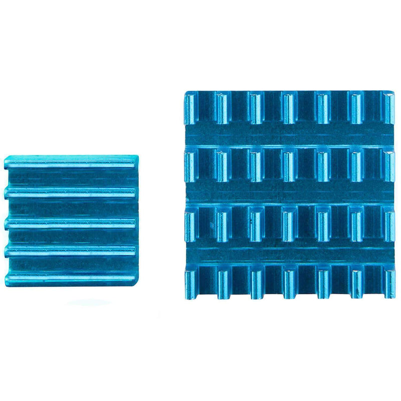2r set of blue aluminium radiator passive for Raspberry Pi 3 with thermal conductor special adhesive foil RaspberryPi Accessories AZ-Delivery