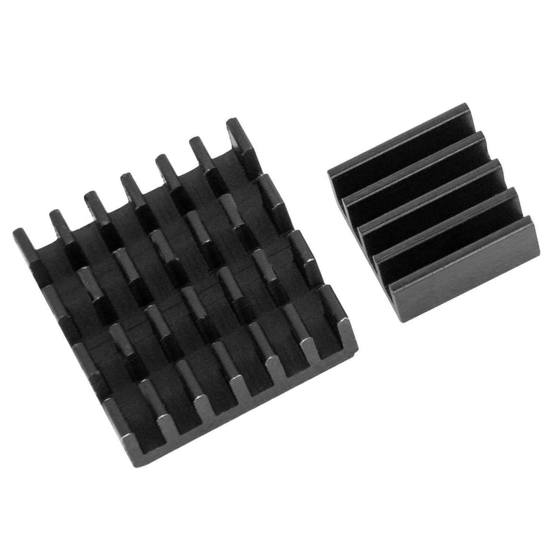 2r Set Black Alu Refrigerator passive for Raspberry Pi 3 with heat-conducting special adhesive foil RaspberryPi Accessories AZ-Delivery 1x Set