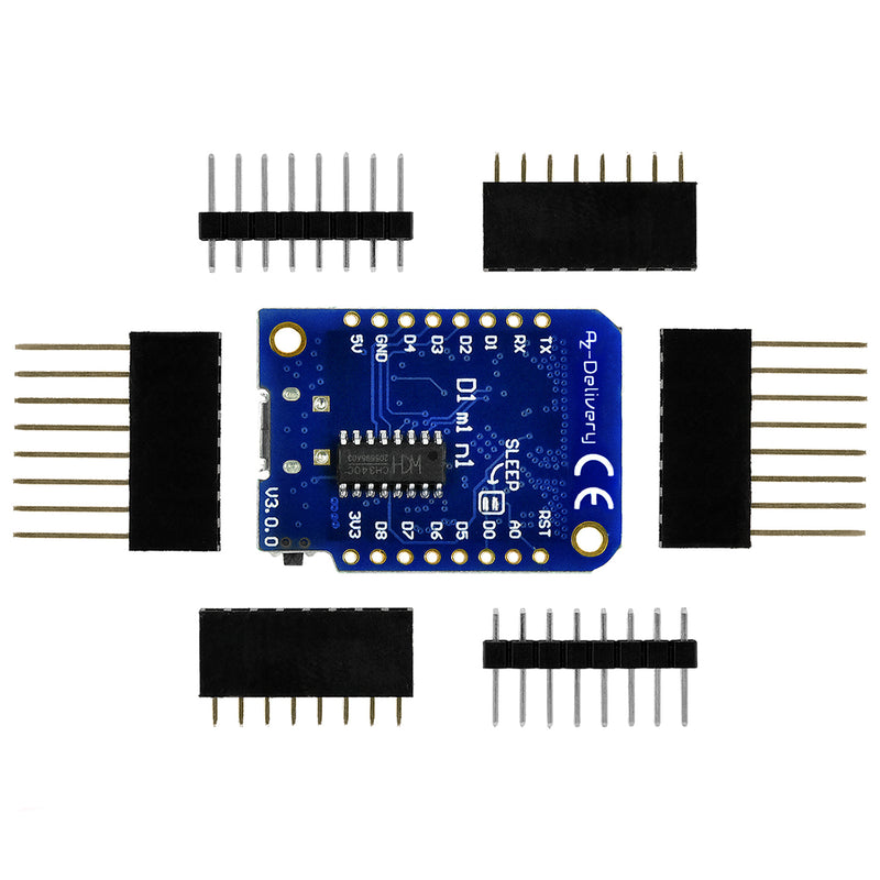 D1 Mini V3 NodeMcu with ESP8266-12F WLAN module for Arduino