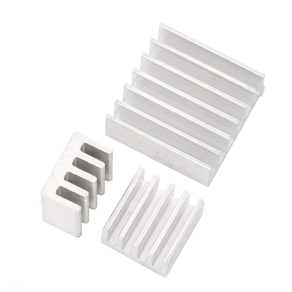 Set of 3 passive aluminum heat sinks for Raspberry Pi A + B with heat-conductive special adhesive film RaspberryPi Accessories AZ-Delivery 1x set