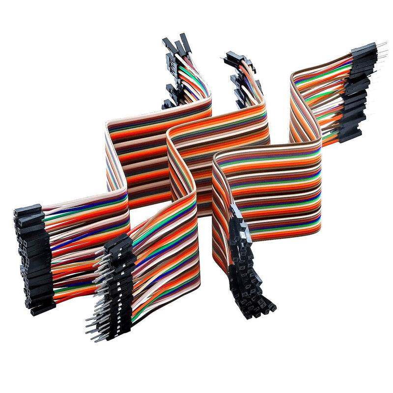 Jumper Wire Cable 3 x 40 STK. each 20 cm M2M/ F2M / F2F for Arduino and Raspberry Pi Breadboard Arduino accessories AZ-Delivery