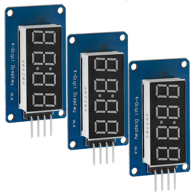 4 Bit Digital Tube LED Display Modul I2C mit Clock Display für Arduino und Raspberry Pi Display AZ-Delivery 3x Display
