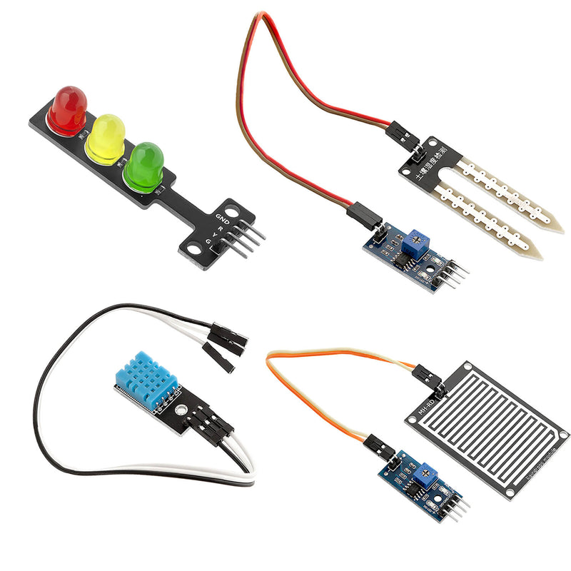 16 in 1 kit accessory set with sensors and modules for Raspberry Pi, Arduino