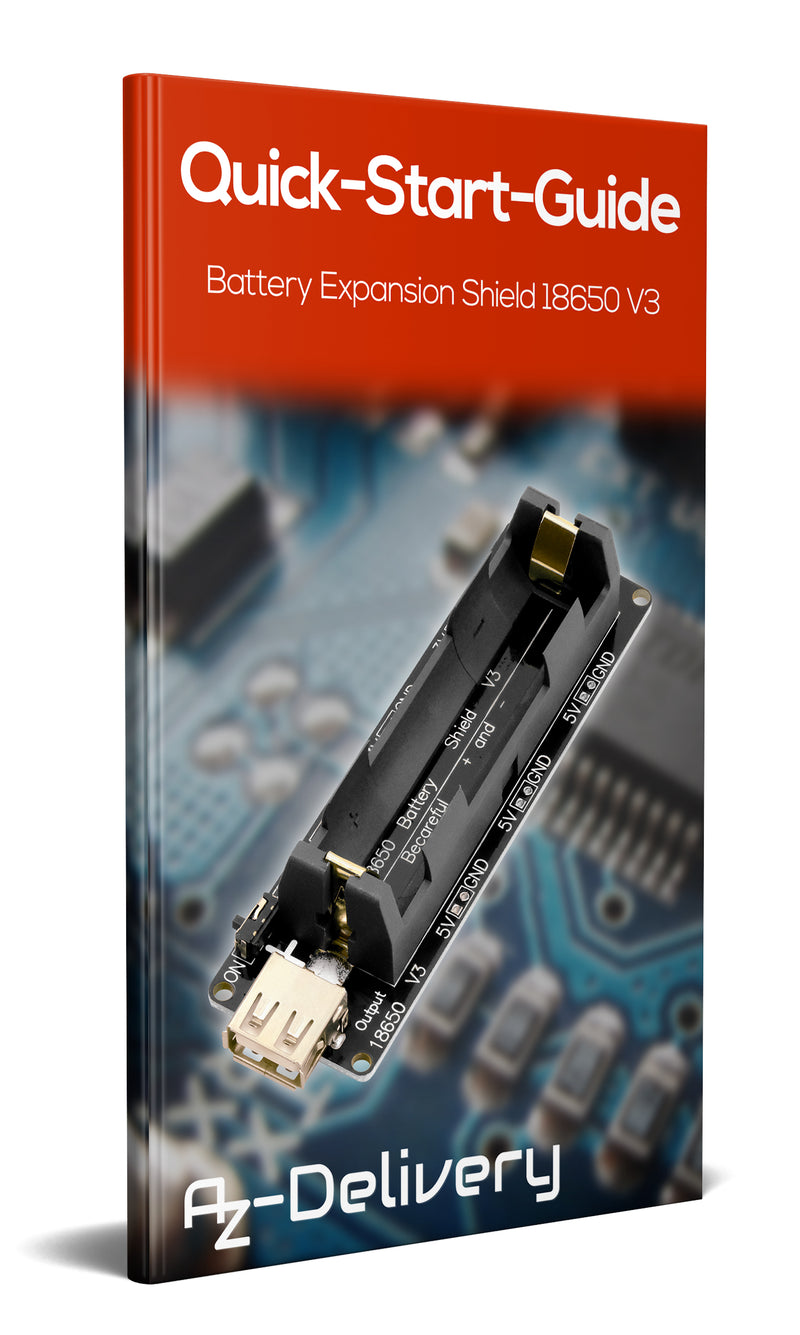 Battery Expansion Shield 18650 V3 inkl. USB Kabel