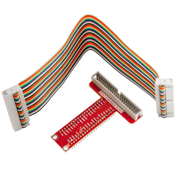 40 Pins GPIO Breakout Board and compatible flat band Ribbon cable for Raspberry Pi RaspberryPi Accessories AZ-Delivery 1X Breakout