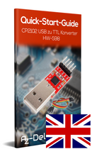 HW-598 USB to serial adapter with CP2102 chip and cable