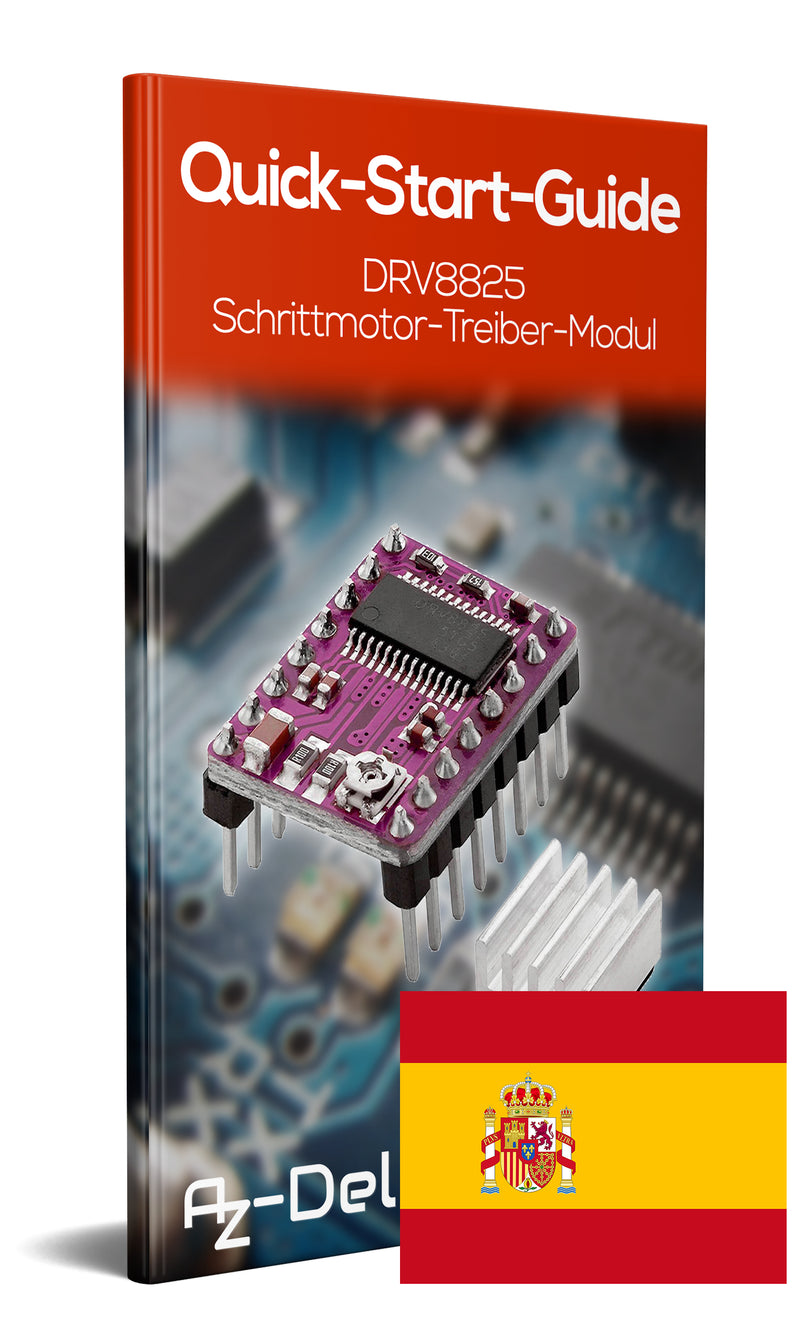 DRV8825 stepper motor driver module with heat sink