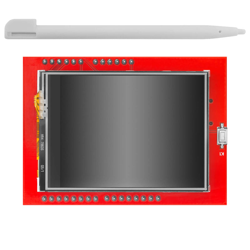 2.4 inch TFT LCD Touch Screen Module XPT2046 PCB ILI9341 240x320 Pixels 8-bit SPI Serial Port Display 300mA 5V 3.3V