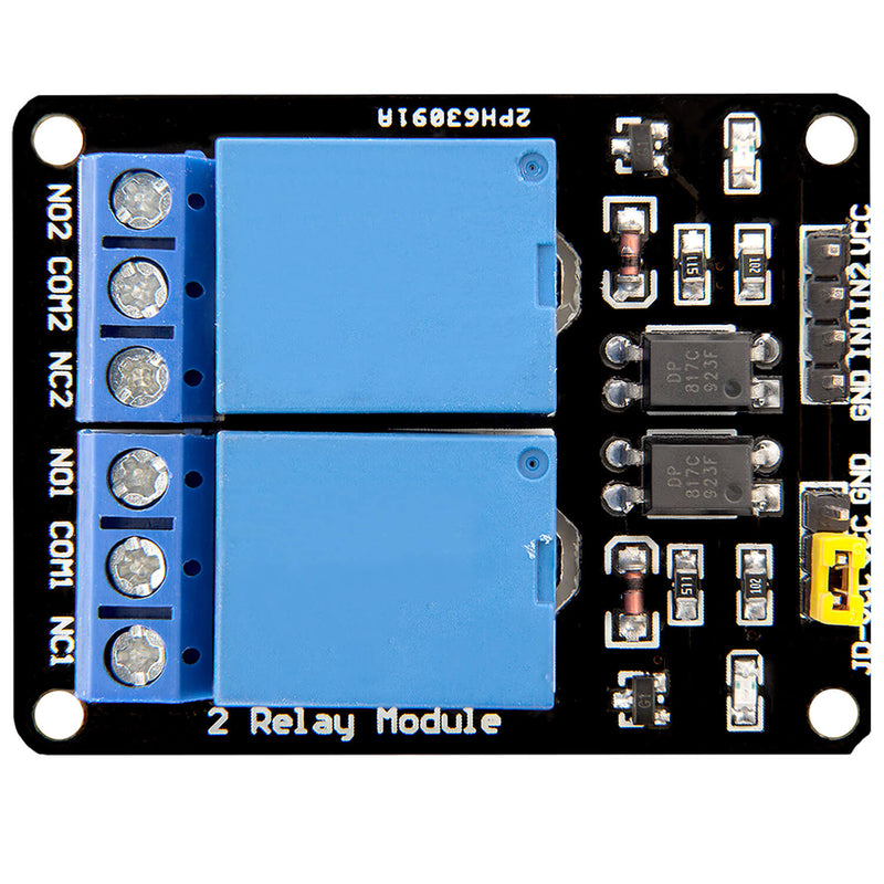 2-Relais Modul 5V mit Optokoppler Low-Level-Trigger für Arduino