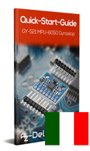 GY-521 6-axis gyroscope and accelerometer