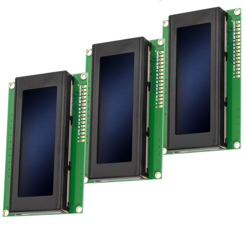 HD44780 2004 LCD Display 4x20 Character Blue Display AZ-Delivery 3x Display