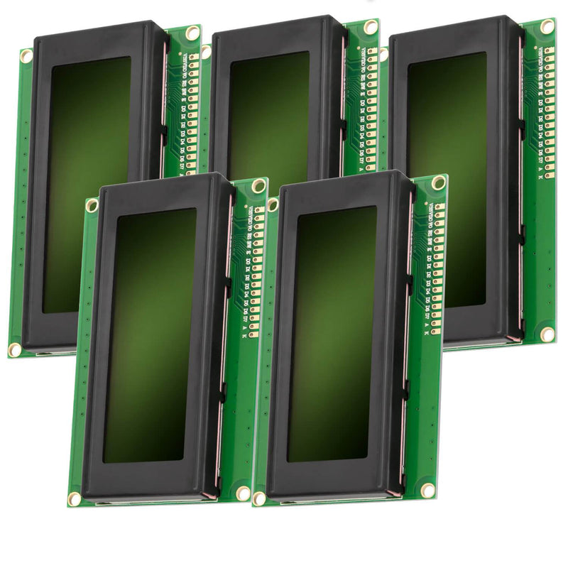 HD44780 2004 LCD Display 4x20 Zeichen Grün Display AZ-Delivery 5x LCD