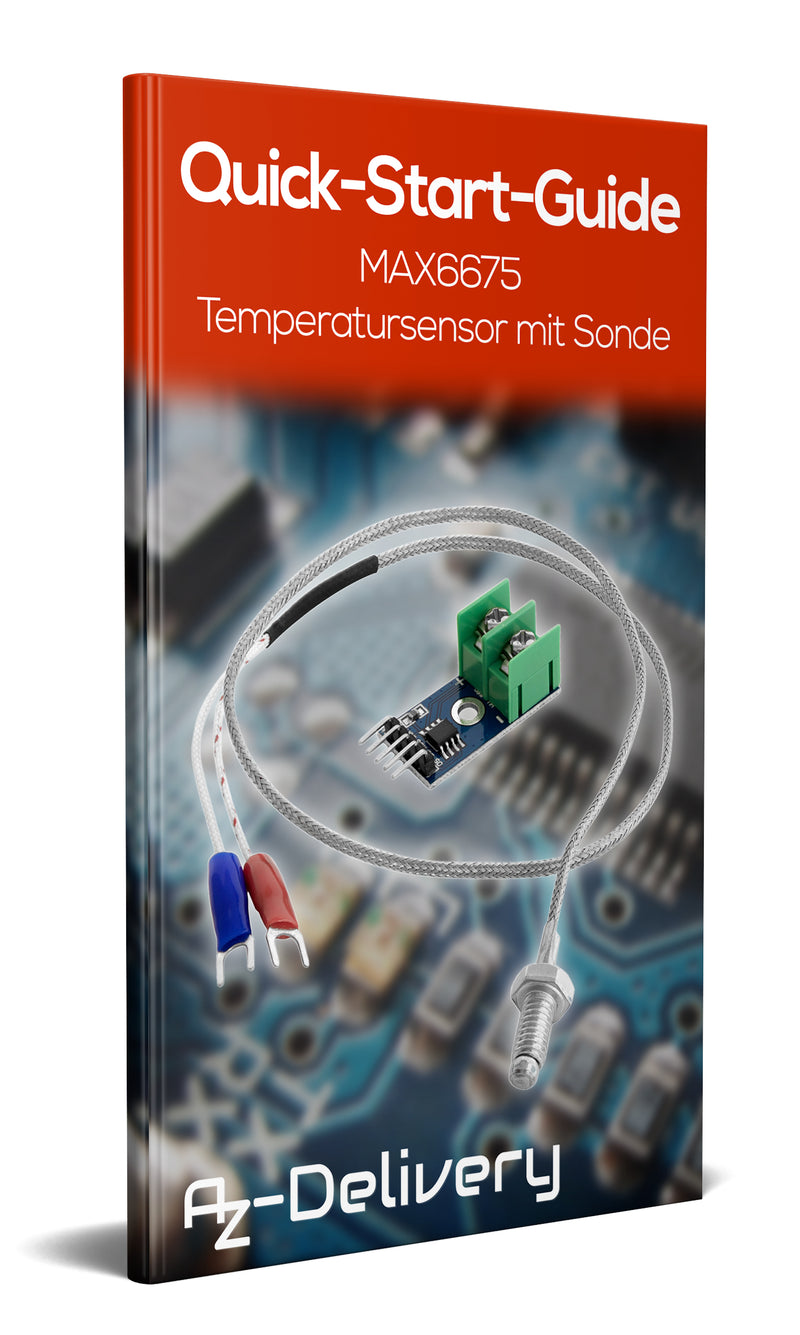 MAX6675 temperature sensor with probe