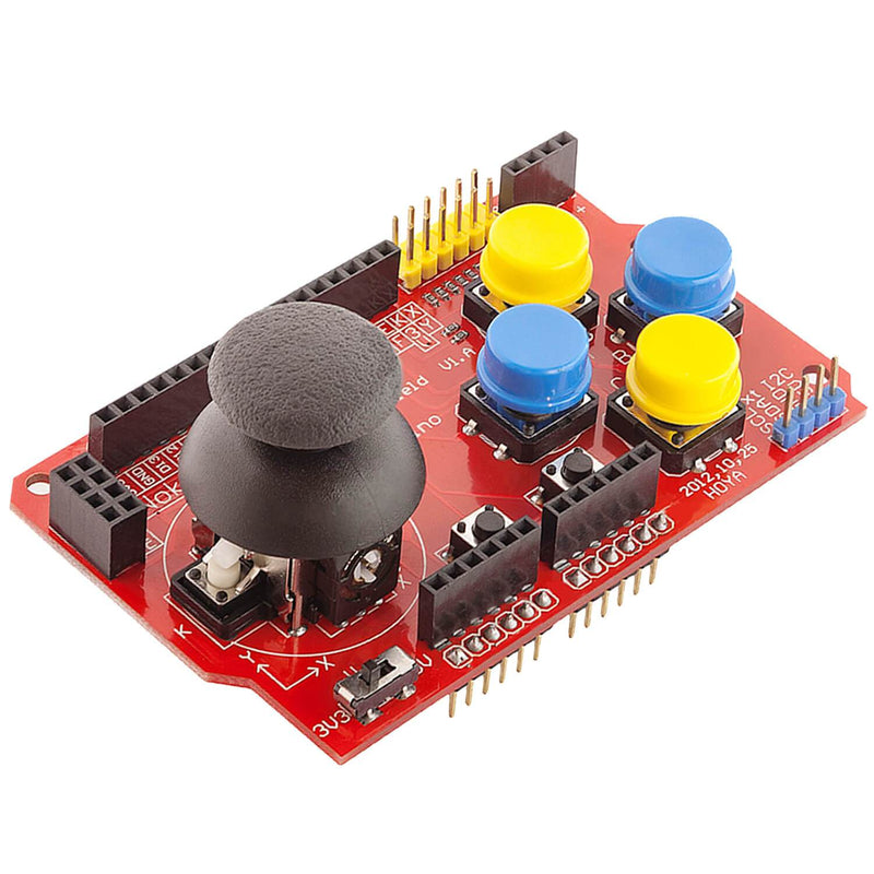 PS2 Joystick Shield Game Pad Keypad V2.0 for Arduino Arduino Accessories AZ-Delivery 1x Joypad