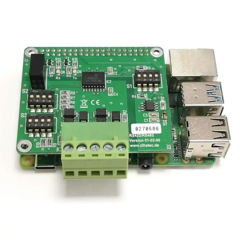 RS422 / RS485 HAT for Raspberry Pi with galvanic separation RaspberryPi Accessories AZ-Delivery