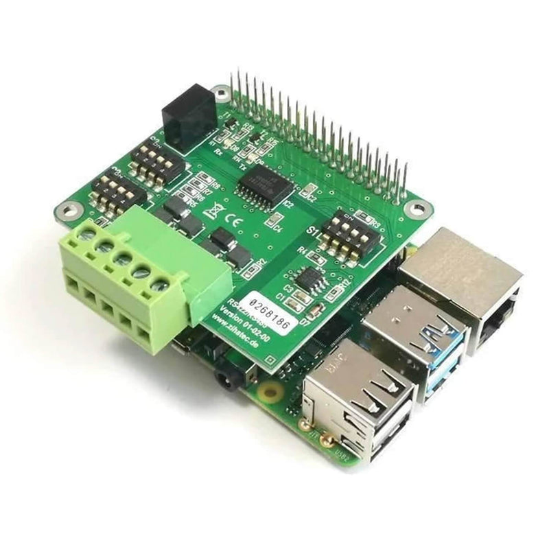 RS422 / RS485 HAT for Raspberry Pi with galvanic separation RaspberryPi accessories AZ-Delivery Stacked Header