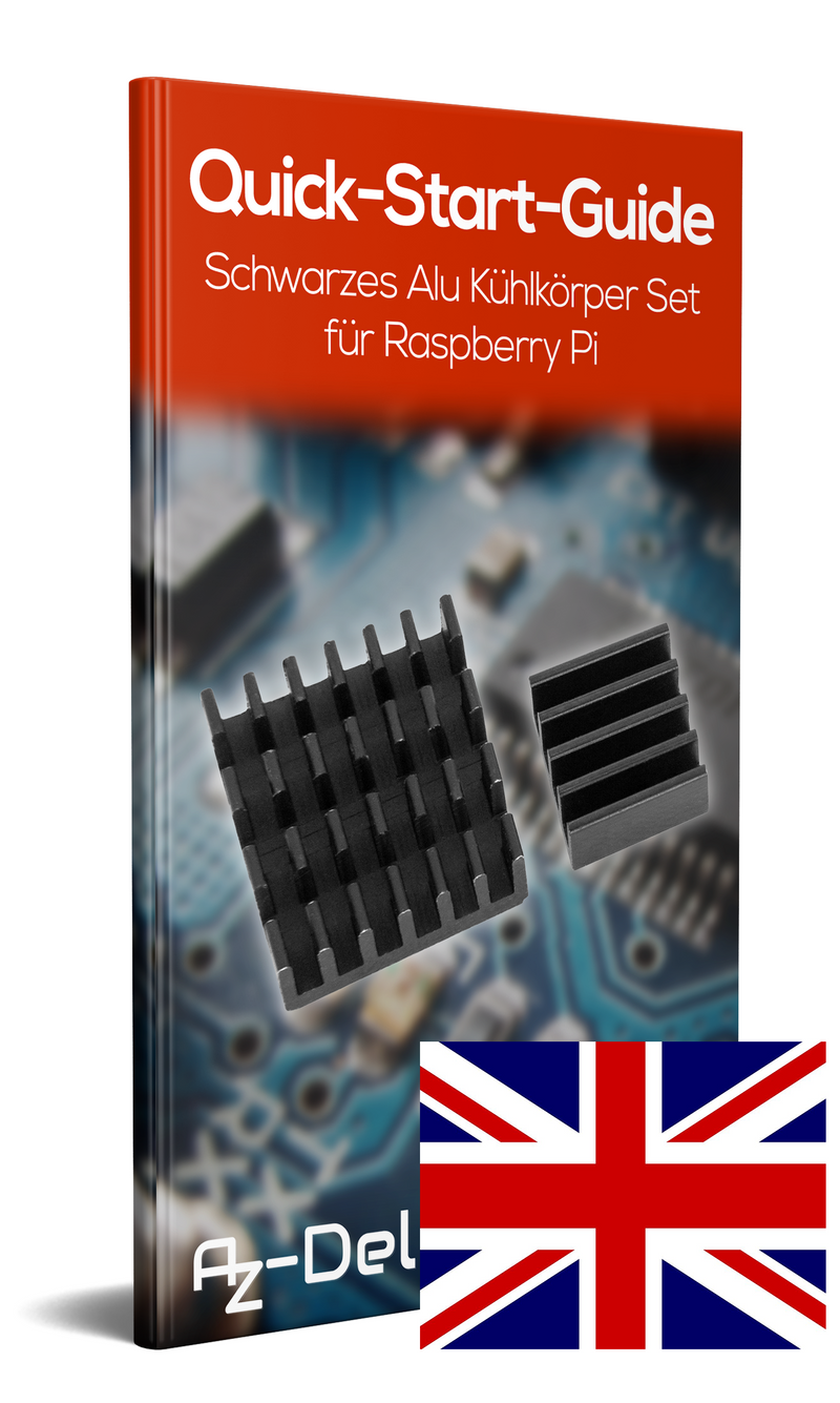 Black aluminum heat sink set for Raspberry Pi 3 Model B