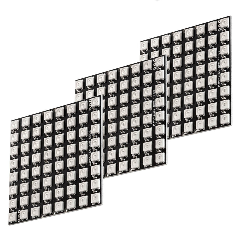U 64 LED Matrix Panel CJMCU-8 * 8 Modul für Arduino und Raspberry Pi Arduino Zubehör AZ-Delivery 3x LED-Panel