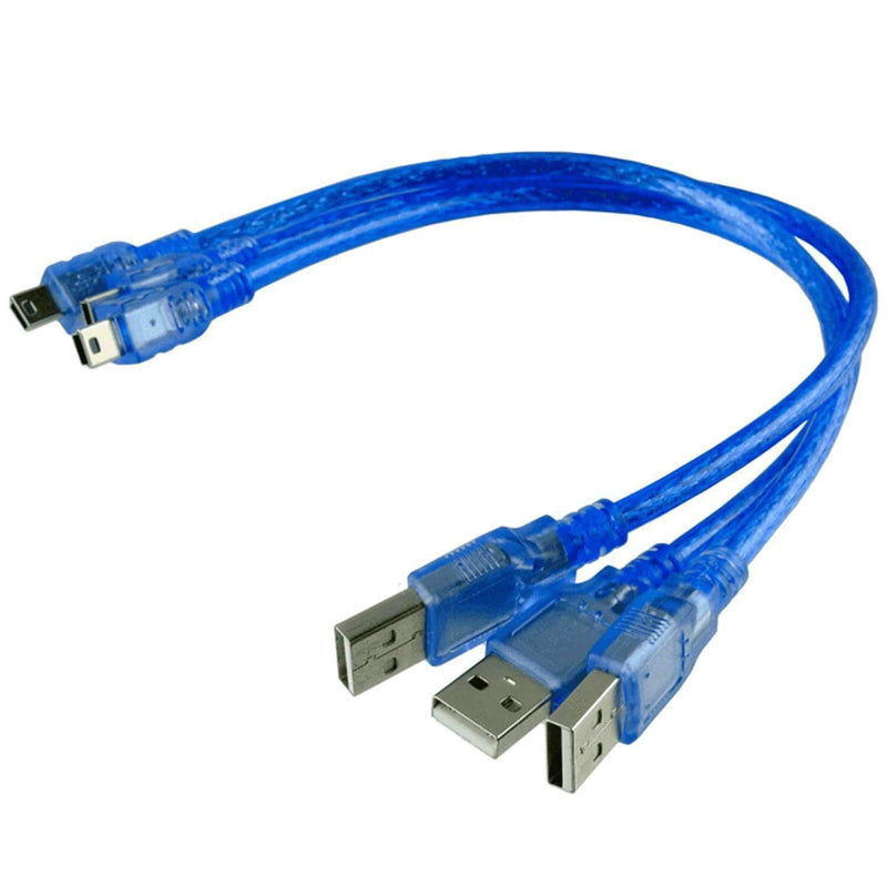 Blue mini USB cable for Arduino Nano V3.0,100% compatible with Nano V3 Arduino accessories AZ-Delivery