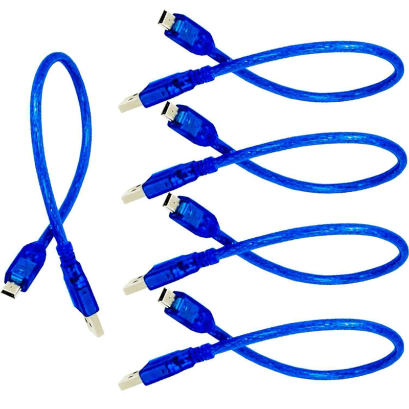 Blue Mini USB Cable for Arduino Nano V3.0,100% compatible with Nano V3 Arduino Accessories AZ-Delivery 5x Cable