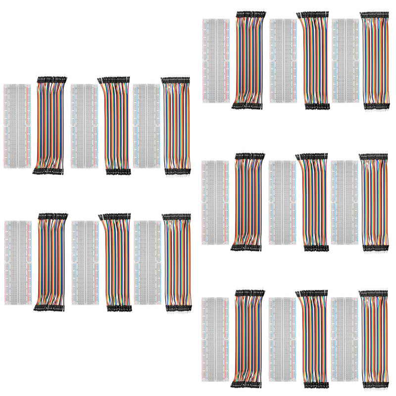 Breadboard Kit - 3x Jumper Wire m2m/f2m/f2f + 3er Set MB102 Breadbord für Arduino