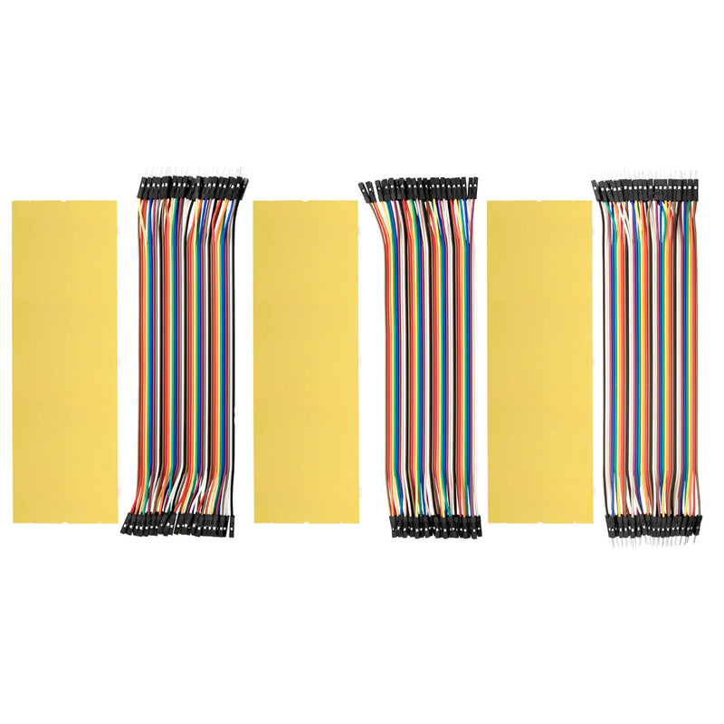 Breadboard Kit - 3x Jumper Wire m2m / f2m / f2f + set van 3 MB102 Breadbord voor Arduino