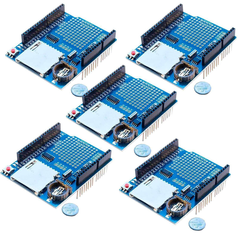 Data Logger Module Data Recorder Shield for Arduino Arduino Accessories AZ-Delivery 5x Data Logger