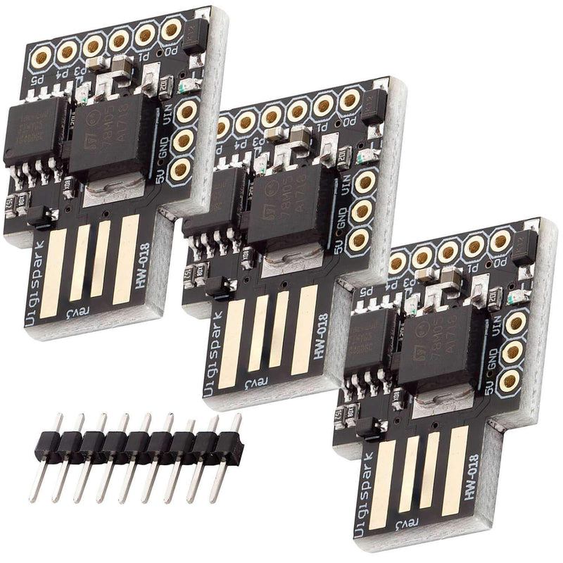 Digispark Rev.3 Kickstarter with ATTiny85 and USB for Arduino Arduino Compatible AZ-Delivery 3x Digispark
