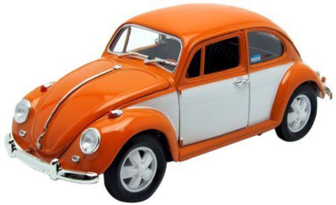 GREENLIGHT 1:18 1967 ORANGE  RETRO VW BEETLE DIECAST MODEL CAR