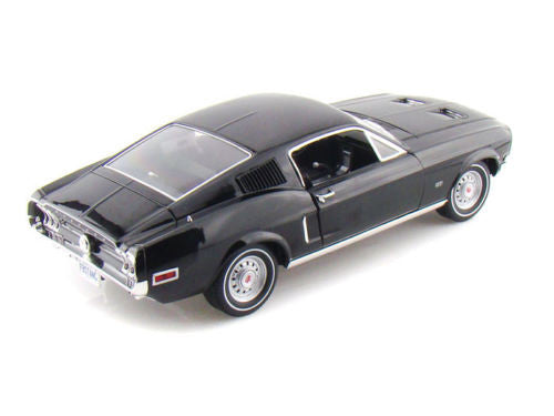 GREENLIGHT 1:18 1968 BLACK FORD MUSTANG 2+2 FAST DIECAST MODEL CAR