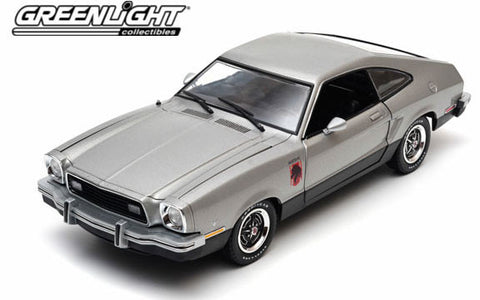 GREENLIGHT 1:18 1976 SILVER FORD MUSTANG II STALLION DIECAST MODEL CAR