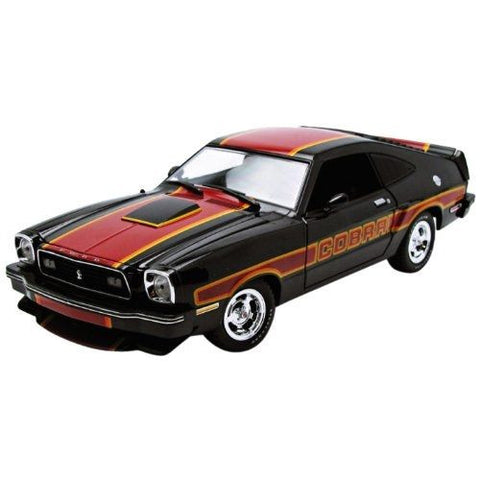 GREENLIGHT 1:18 1978 BLACK/RED FORD 1978 MUSTANG COBRA II DIECAST MODEL CAR