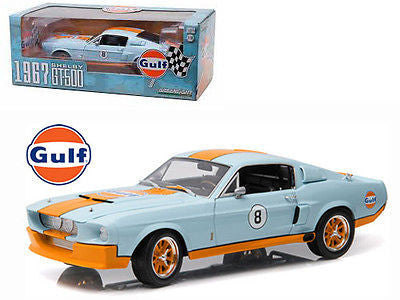 GREENLIGHT 1:18 1967 SHELBY GT-500 #8 GULF OIL DIECAST MODEL CAR