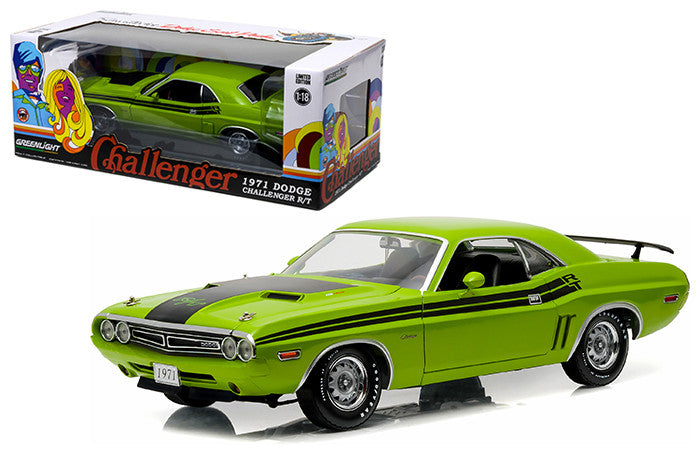 Greenlight 1:18 Scale Green 1971 Dodge Challenger R/T Diecast Model Car