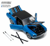Greenlight 1:18 Scale 1967 Blue Ford Mustang Coupe Ski Country Diecast Model Car