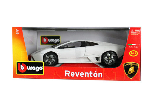 BBURAGO 1:18 PLUS WHITE LAMBORGHINI REVENTON  DIECAST MODEL CAR