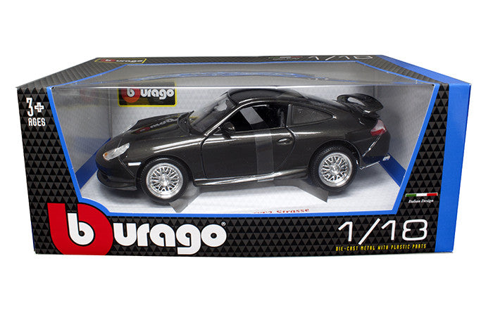 BBURAGO 1:18 1997 BLACK PORSCHE GT3 STRASSE  DIECAST MODEL CAR