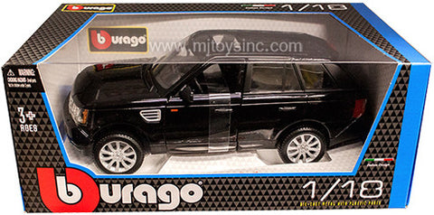BBURAGO 1:18 BLACK LAND ROVER RANGE ROVER SPORT  DIECAST MODEL CAR