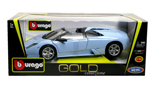 BBURAGO 1:18 GOLD EDITION BLUE LAMBORGHINI MURCIELARGO RDST  DIECAST MODEL CAR