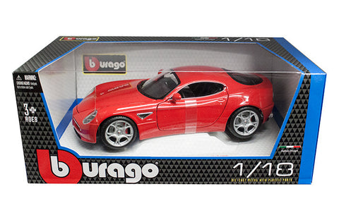 BBURAGO 1:18 2007 RED ALFA 8C COMPETIZIONE  DIECAST MODEL CAR