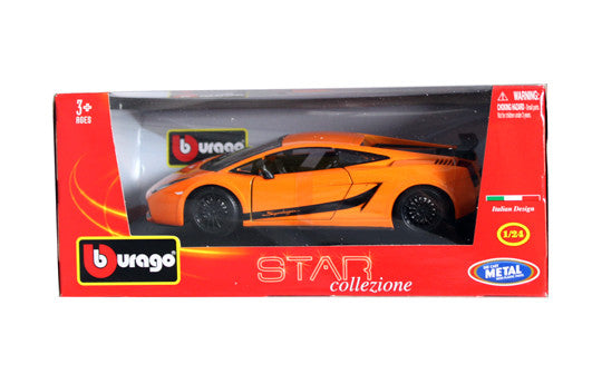 BBURAGO 1:24 W/B STAR ORANGE LAMBORGHINI 2008 GALLARDO  DIECAST MODEL CAR