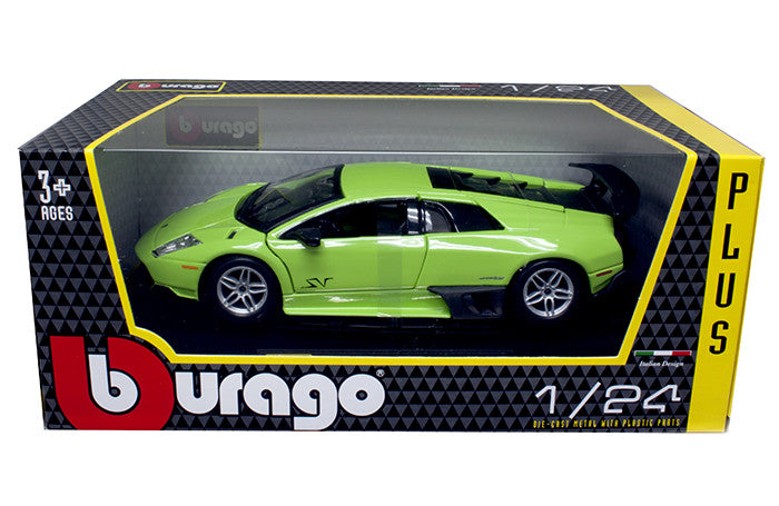 BBURAGO 1:24 W/B PLUS GREEN LAMBORGHINI MURCIELAGO LP670-4 SV   DIECAST MODEL CAR