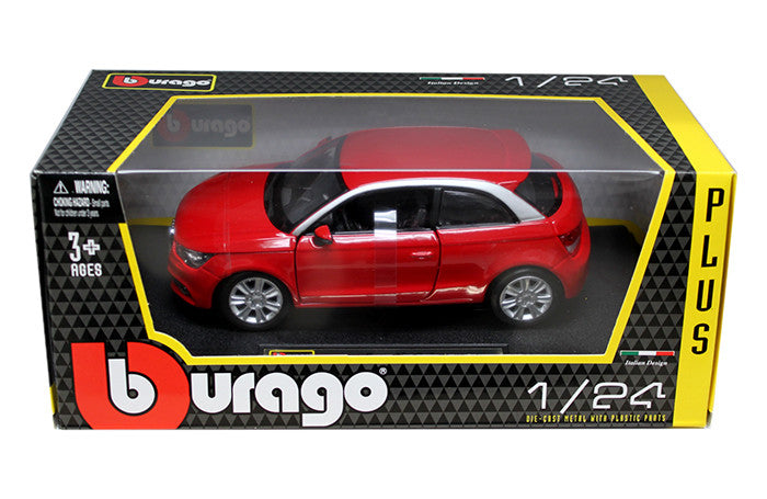 BBURAGO 1:24 W/B PLUS  RED AUDI A1  DIECAST MODEL CAR