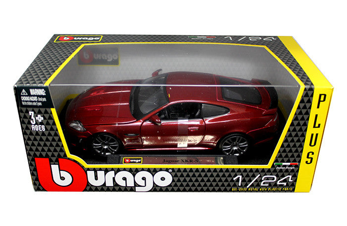 BBURAGO 1:24 W/B PLUS RED JAGUAR XKR-S     DIECAST MODEL CAR